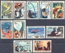 Australian ANTARCTIC Territory 1966 FIRST DECIMALS Set NHM (11) SG 8-18