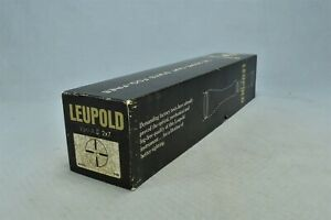 Vintage LEUPOLD VARI-X II RIFLE SCOPE SIGHT #16583 SHIPPING BOX ONLY #02697