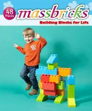Jumbo Brick Stackable Building Block 48pcs MassBricks Kid Toddler Toy Lego Gift