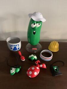 VeggieTales Dress-Up Mix-Up Larry Lot INCLUDES HTF BASE/STAND Mr. Potato Head