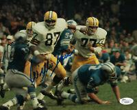 PACKERS Willie Davis signed 8x10 photo vs Lions JSA COA AUTO Autographed SB I II