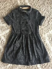 Burberry Children Girls Double Breasted Trench Style Charcoal Dress Size 8 8Y