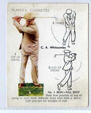 Players, Golf, #24 C.A.Whitcombe No.1 iron Full Shot 1939 (Gv900-446)