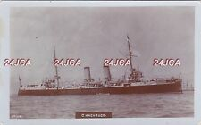 "Chilean Navy Real Photo RPPC. ""Chacabuco"" Protected Cruiser. WW1 &11. c 1900"