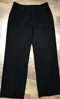 Chicos 1 Regular Dress Pants Black Pocket Trim Stitched Accent Straight Leg