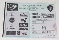 Ticket for collectors EURO q * Belgium - Denmark 1995 in Brussel
