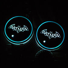 A pair LED Car Cup Holder Pad Mat for Batman Auto Atmosphere Lights Xmas Gift