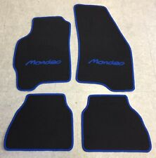 Autoteppich Fußmatten  für Ford Mondeo 1994' - 2000' schwarz blau Neuware