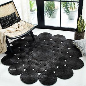 Rug Jute Braided Reversible 100% Natural Carpet Braided Modern Rustic Look Rug