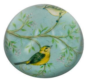 Blue/Green Crystal Bird Paperweight - 8cms dia. x 4cms high. - AU Seller
