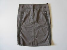 NWT French Connection FCUK Jeans Mouse Green Zip Side Cotton Pencil Skirt 2