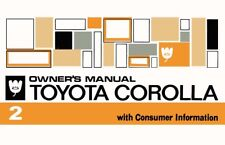 1972 Toyota Corolla Owners Manual User Guide Reference Operator Book Fuses