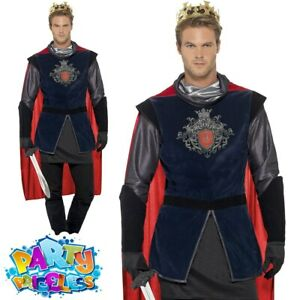 Adult King Arthur Costume Deluxe Medieval Knight Fancy Dress Historical Outfit