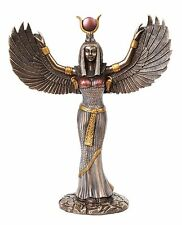 Egyptian Isis With Open Wings Goddess of Magic and Nature Figurine Statue