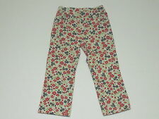 "Gymboree ""Cherry Cute"" White w/Red Pink & Blue Floral Print Knit Pants, 2T"