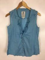 LTB Bluse, blau, Größe M, used look