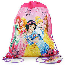 6 Disney Princess Sport Drawstring Backpack Sling Bag Tote Birthday Party Favors