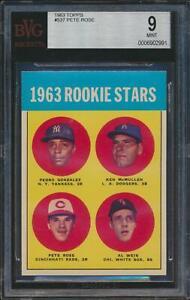 1963 Topps PETE ROSE Rookie Cincinnati Reds BGS BVG 9