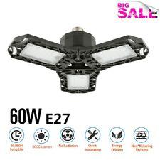 US 60W Triple Glow Deformable LED Garage Light Premium 6000 Lumens Light E27/E26