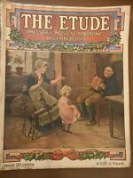 "THE ETUDE PRESSER'S MUSICAL MAGAZINE ""DECEMBER 1919"" VINTAGE RARESHEET MUSIC"