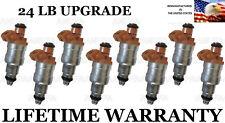 8X Upgraded Genuine 24LB Fuel Injectors Ford Econoline E-250 E-350 7.5L
