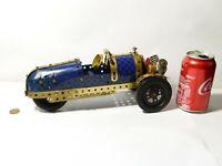 """Vintage Meccano Aero Morgan 3 Wheeled Car 11.5"""" long Made up  #M1"""