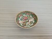 Vintage or Antique Chinese Famille Rose Mini Bowl 2 5/8'' W