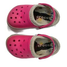 Crocs Girls Toddler Pink Shoes 8/9 Sandals Slip On