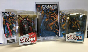 (2)The Art of SPAWN issue 7 Cover Art Figurine 2005 Todd McFarlane Toys W/ Comic