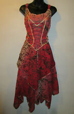 Dress 1X 2X Plus Coral Brown Leopard Corset Lace Up Chest Sundress NWT BR 101