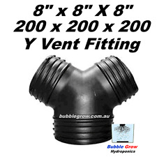 """8"""" 200MM Y DUCTING PIECE JOINER AIR COOLING VENTILATION FAN DUCT FIT 200X200X200"""