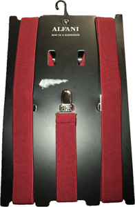 Alfani Men's Red Suspenders One Size Fits All