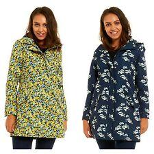 Ladies Printed Shower Proof Zip Lined Rain Mac Kagoul Light Jacket Size 10 - 24