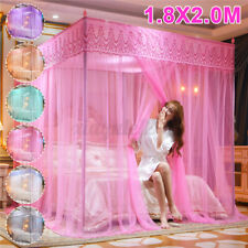 4 Corner Post Bed Mosquito Net Curtain Canopy Netting Set Queen King