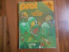 Old Vintage 1980 PRO! Program Magazine Green Bay Packers Edition Chicago Bears