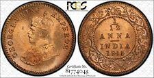 1915-C India 1/12 Anna PCGS MS66 Red