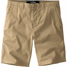 "Mens Springfield Chino Shorts 100 Cotton Knee Length Casual Half Pant Bottoms Khaki 36"" Waist"