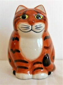 Collectable Quail Pottery, Larger 11.5cms Ginger Cat Figure, George