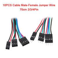 10PCS 70cm 2/3/4Pin Cable Male-Female Jumper Wire For Arduino 3D Printer Reprap