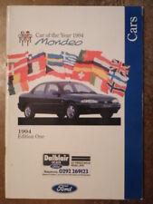 FORD CARS FEBRUARY 1994 PRESTIGE BROCHURE - Fiesta, Escort Si Mondeo Granada