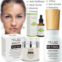 Retinol 2.5% Cream ,Hyaluronic Acid Vitamin E Serum ,Anti Aging Wrinkles Eye Gel