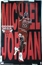 Michael Jordan Chicago Bulls Vintage Starline Action Poster