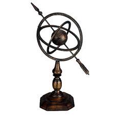 Wrought Iron Armillary Sphere Sundial Statue - 87392