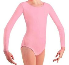 Mondor 497 Rosemall Pink Child Size Large (10-14) Long Sleeve Leotard