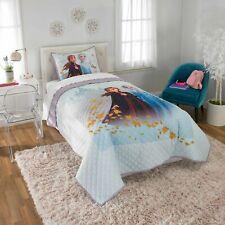 Disney Frozen 2 Kids Bed Quilt & Sham Set Size Twin/Full Elsa Anna Soft Blanket