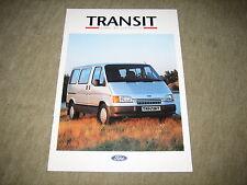 Ford Transit Kombi, Bus, Euroline Prospekt Brochure von 8/1992, 8 Seiten