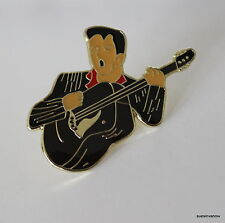 New Musican with Guitar Band Music Lapel Hat Pin Melody Tie Tack Elvis