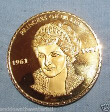 Princess Diana Gold Coin Signature Royal Family Peoples Lady Englands Rose Hero