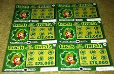 6 Fake Joke Lottery Scratch Cards Realistic Tickets Boys Girls Present Halloween