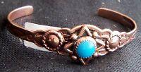 Copper Cuff Bracelet Wheeler Arthritic Healing Arthritis Sciatica Folklore 004
